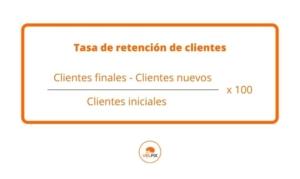 tasa de retención de clientes
